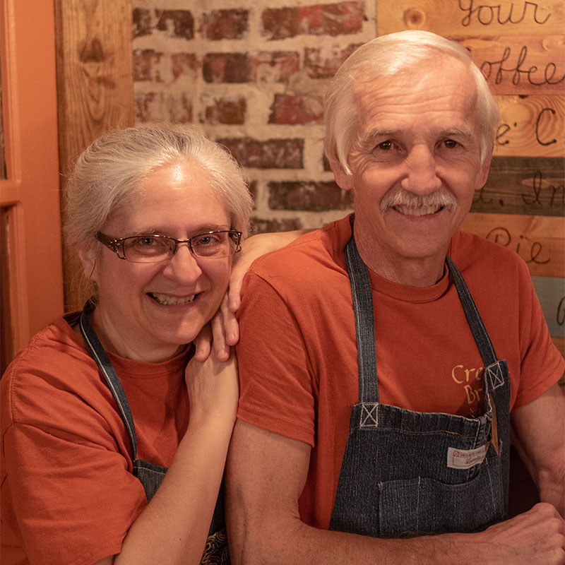 Crema Brew owners Roxanne and Donovan Zook
